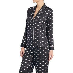 Kate Spade Print Charmeuse Pajamas Sz Large